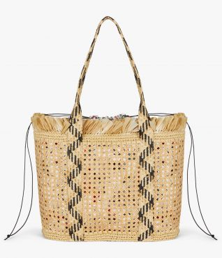The perfect size for carrying your beach essentials this Large Straw Bag is a summertime failsafe.