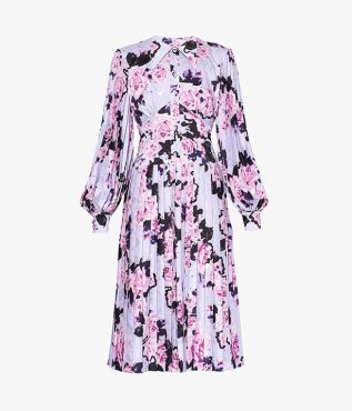 Erdem Venner Dress Beaton Bloom Satin Jacquard
