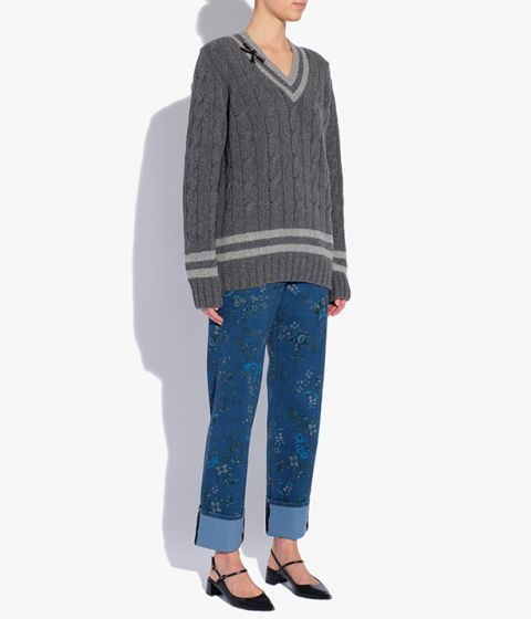 The Albertha Jumper in grey is shaped for a relaxed, oversized fit.