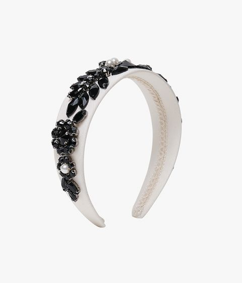 Finish your eveningwear look in romantic style with this ivory headband from Erdem.