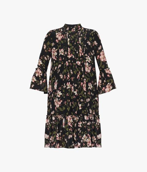 The Winford Dress, crafted from Margot Daisy silk crepe de chine from Erdem's AW21 collection.