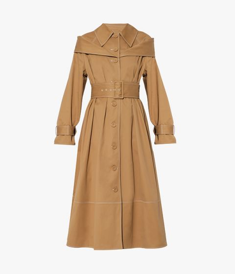 Erdem's directional take on the classic trench, the Lotte Coat balances masculine and feminine styling.