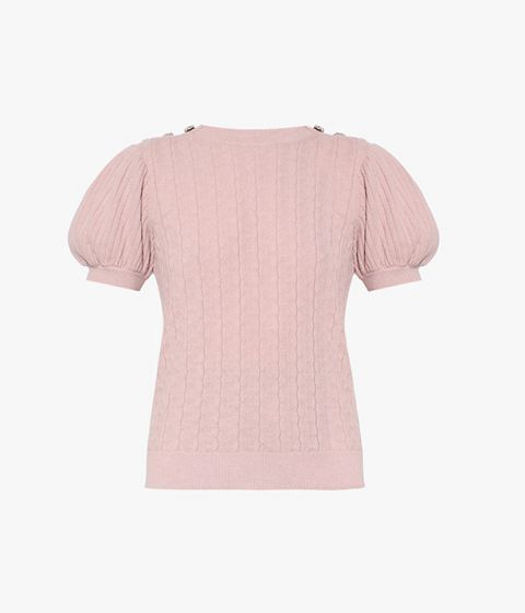 Refresh your knitwear repertoire with the blush pink Belva Jumper from Erdem.