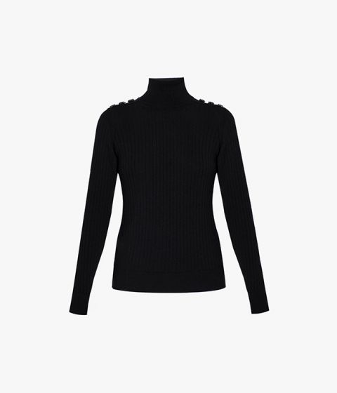 The Bessy Jumper in black from Erdem will make a versatile addition to your cool weather wardrobe.
