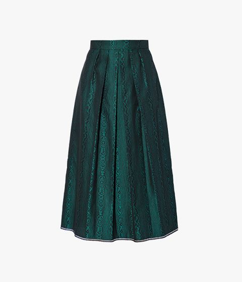The Bernita Skirt is gently pleated for a beautiful sense of movement.