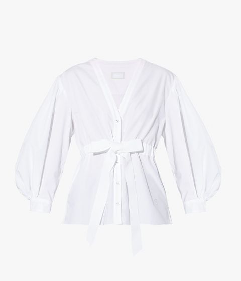 With its low V-neckline and relaxed, blouson sleeves, the Robe Shirt presents an update on a wardrobe staple.