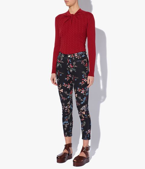 Erdem designer denim jeans are cut to sit high on the waist and have a slim fit through the legs.
