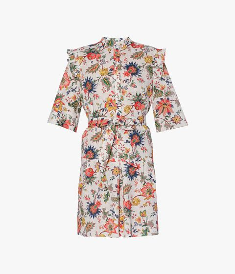 The Hvar Dress from Erdem's vacation collection is crafted from a lightweight blend of cotton and linen.