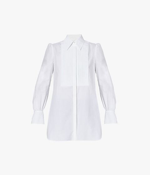 The Tux Shirt is inspired by classic menswear silhouettes then filtered through a feminine lens.