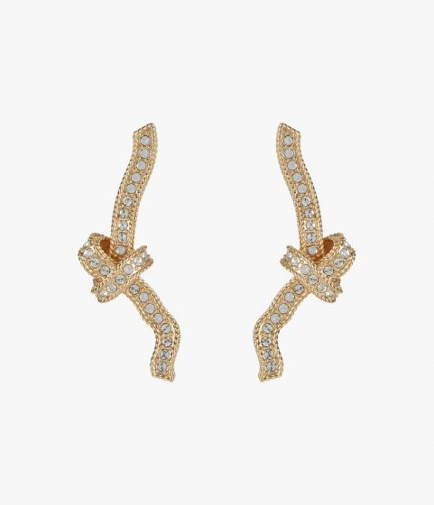 These unique Erdem earrings showcase a textural knotted motif.