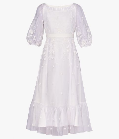 A romantic yet modern bridal choice, the Floredice Dress perfectly showcases Erdem's vision for the White Collection.