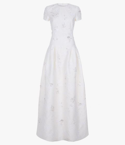 Aphonse Gown Crystal Embellished Chantilly Lace - an elegant designer wedding dress from ERDEM