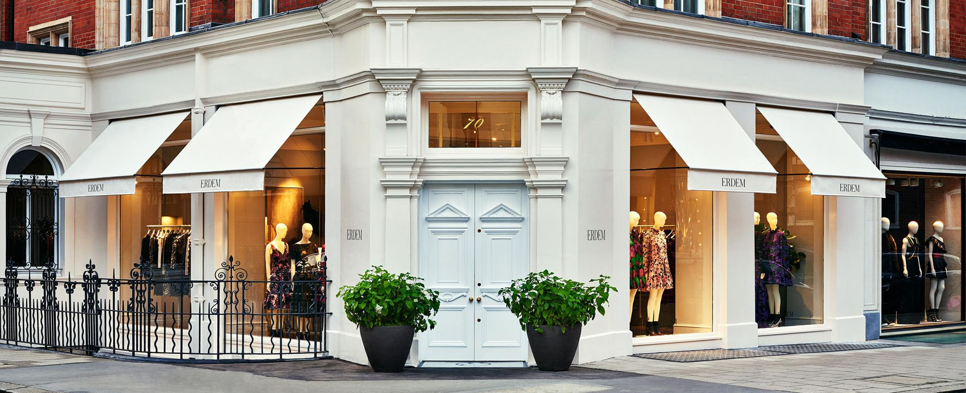 ERDEM London store at 70 south audley street